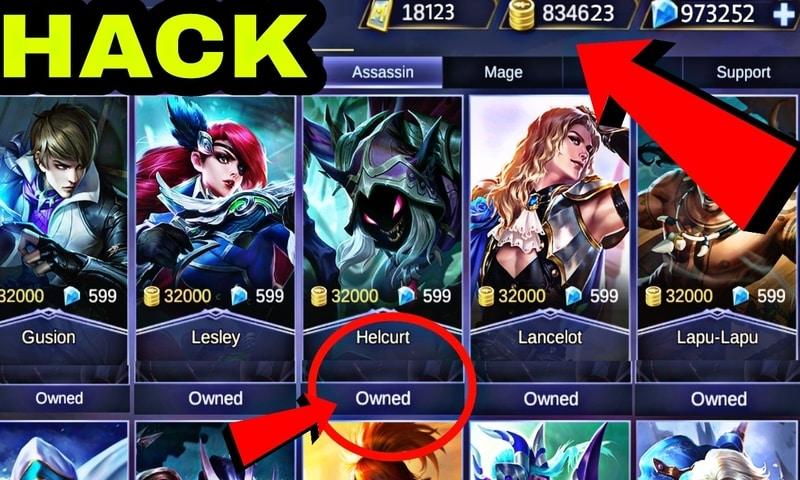 free mobile legends mod