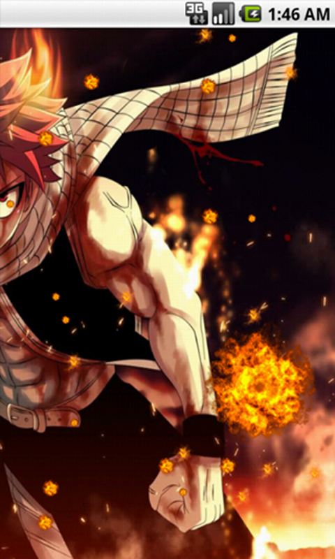 Android 3d Live Wallpaper App Free Natsu Dragneel Fairy Tail Live Wallpaper Apk Download