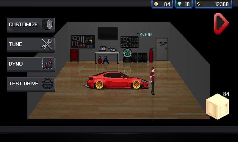 free pixel car racer