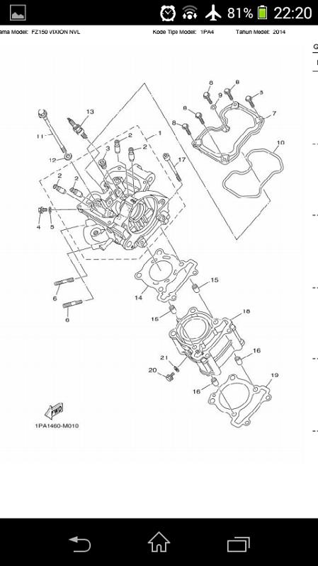 Free Parts Catalog Reader Yamaha VIXION NVL FZ150 2014 APK