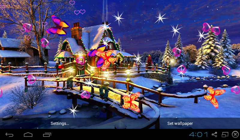 Falling Snow Live Wallpaper Apk Free 3d Christmas Live Wallpapers Apk Download For Android