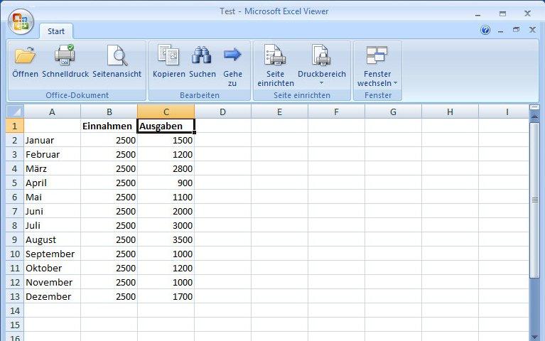 Microsoft Excel Viewer Download kostenlos