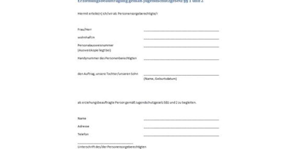 ALLGEMEINER AUFSICHTSZETTEL PDF