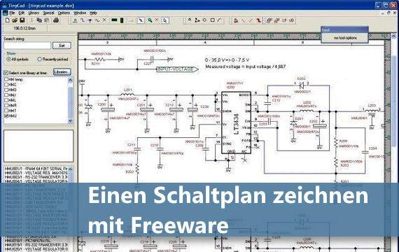 Einen Schaltplan zeichnen mit Freeware  kein Problem  GIGA