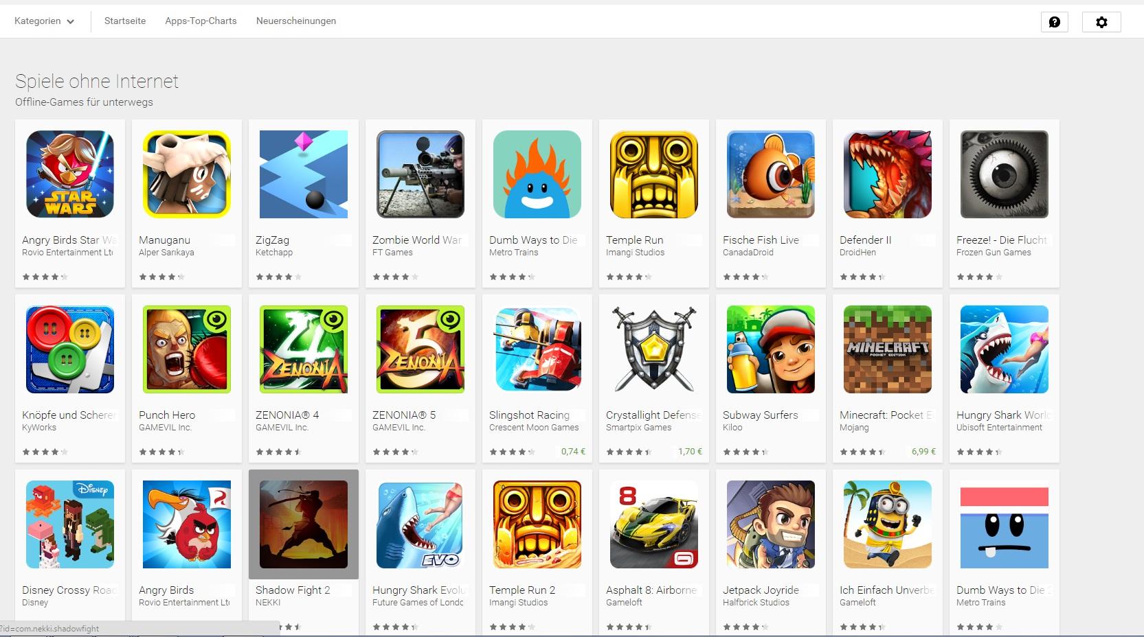 OfflineSpiele fr Android Die besten Games fr die Reise