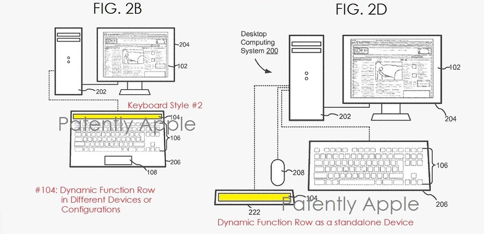 Apple-Patentantrag beschreibt Touch Bar in Magic Keyboard
