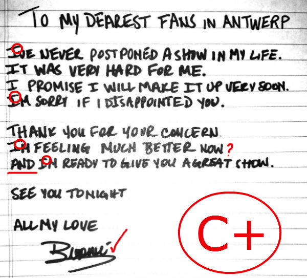 Beyonce's letter to fans: poor punctuation and sentence