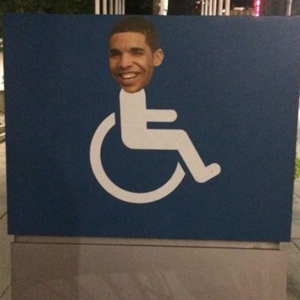 wheelchair jimmy meme gaming chair reviews degrassi returns as drake s face is plastered on toronto signs gigwise