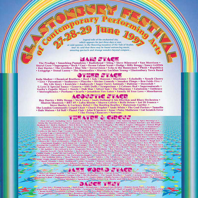 Every Glastonbury lineup and poster in history 1970