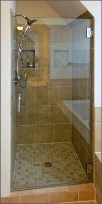 Single Frameless Shower Doors  Dulles Glass and Mirror