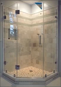 Frameless Shower DoorNeo Angle Shower Door