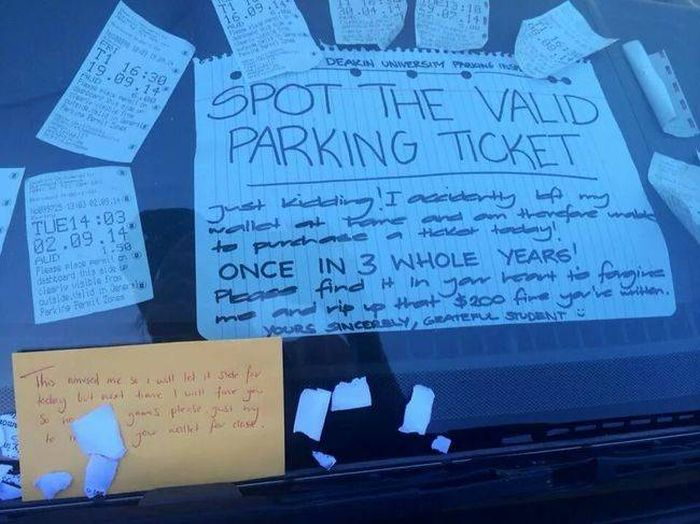 Image result for funny parking notes