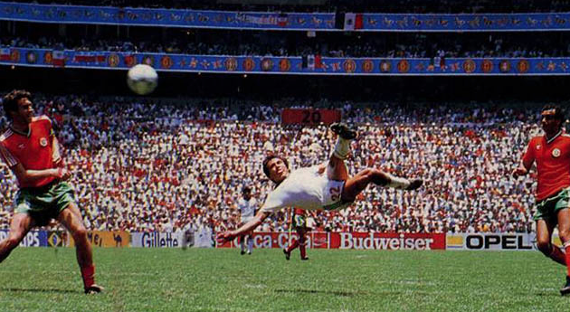 Image result for 1986 world cup negrete goal