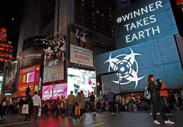 Mensagens misteriosas em Times Square