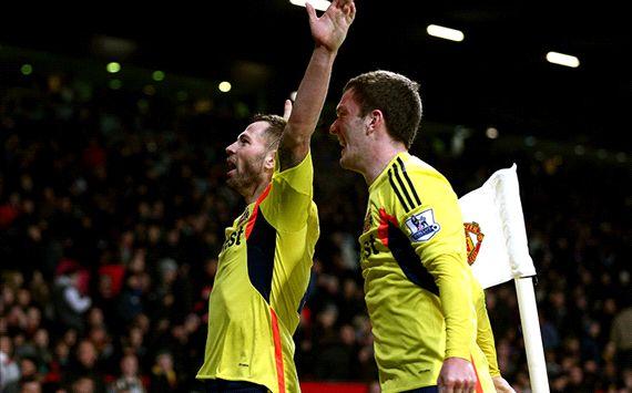 Phil Bardsley; Craig Gardner Manchester United v Sunderland - Capital One Cup 01222014
