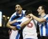 Brighton celebrate their 2-0 against Derby