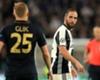 Gonzalo Higuain confronts Kamil Glik during the Champions League semi-final second leg