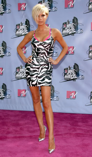 MTV Movie Awards Fug Carpet Victoria Beckham  Go Fug