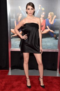 "Alison Brie Wears Tiny Black Dress to ""How To Be SIngle ..."