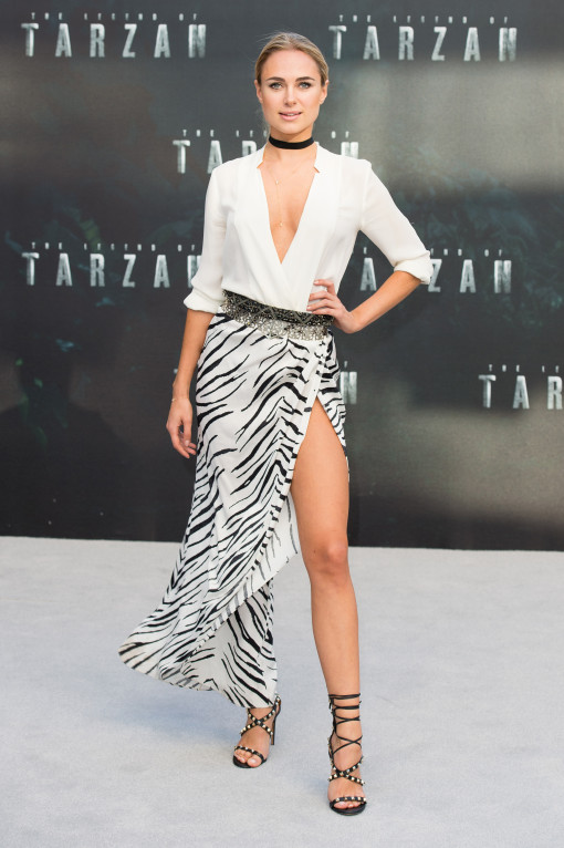 Fugs and Fabs: More from the European Tarzan Premiere Kimberley Garner – Go Fug Yourself