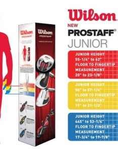 Prostaff junior sizing chart also wilson golf package set year golfonline rh