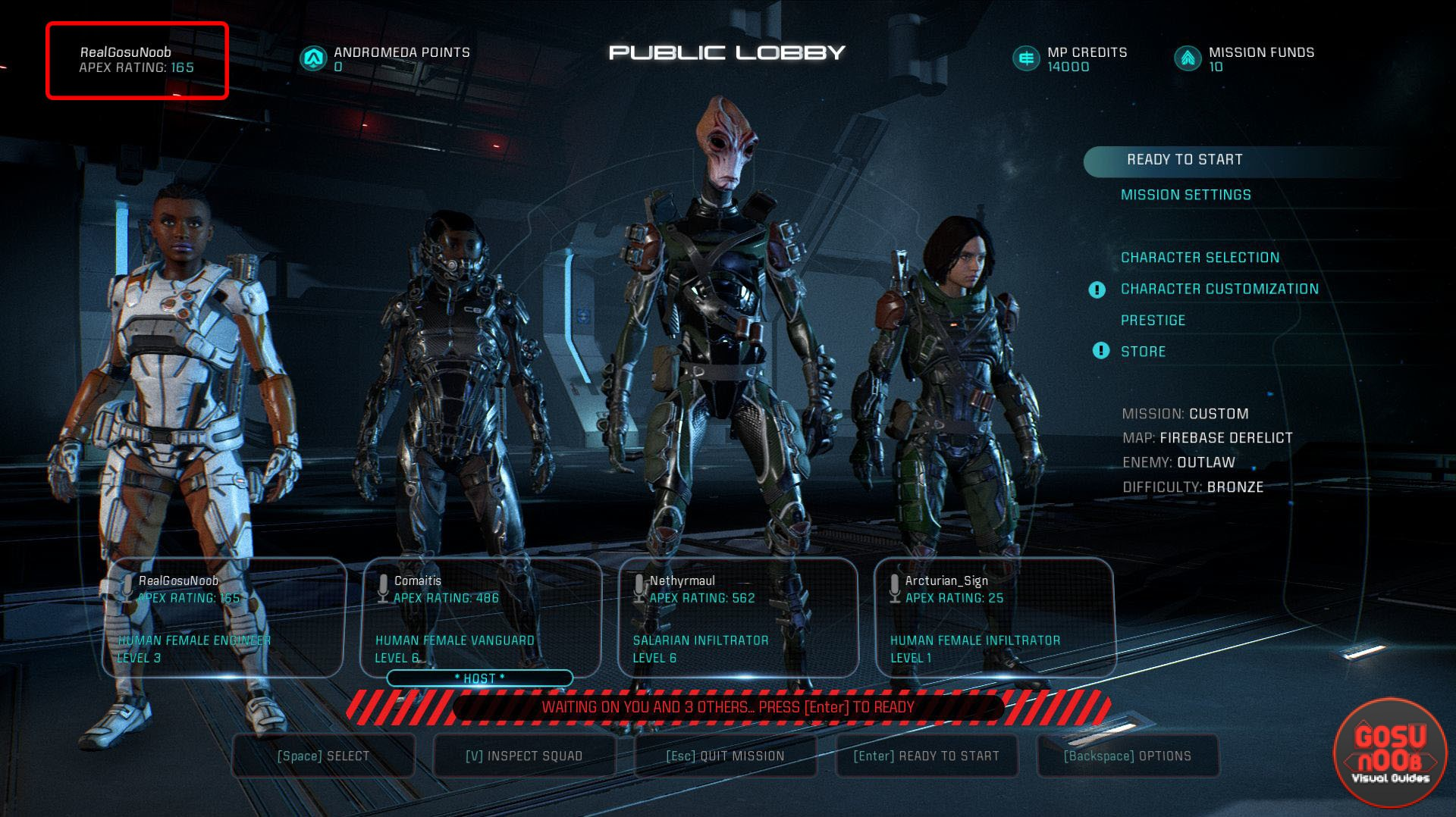 Mass Effect Andromeda How to earn Apex Rating Points in