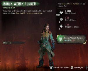 HZD Frozen Wilds DLC Banuk Werak corredor traje