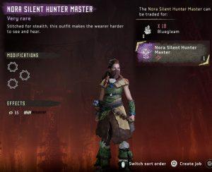 HZD Frozen Wilds Nora Silent Hunter Conjunto maestro