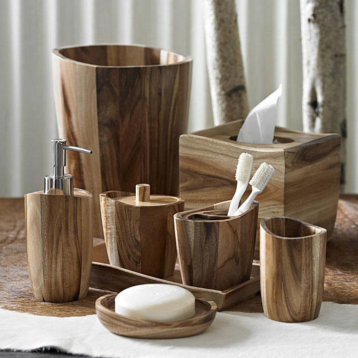 Kassatex Acacia Wood Bath Accessories  Gracious Style