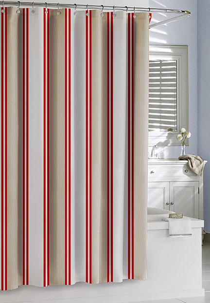 Marina Stripe Shower Curtain  Gracious Style