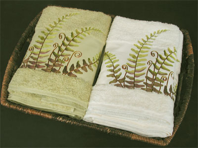 Fern Bath Towels Hand Towels Shower Curtain  Gracious Style