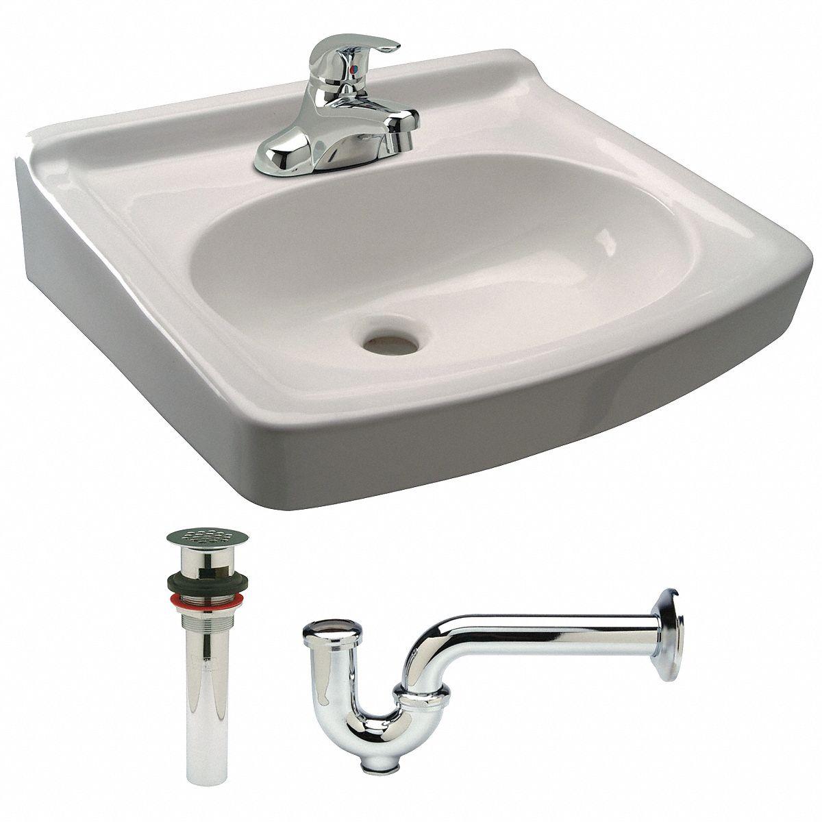 zurn pedastal sinks series 15 1 4 in x 10 3 4 in vitreous china bathroom sink kit