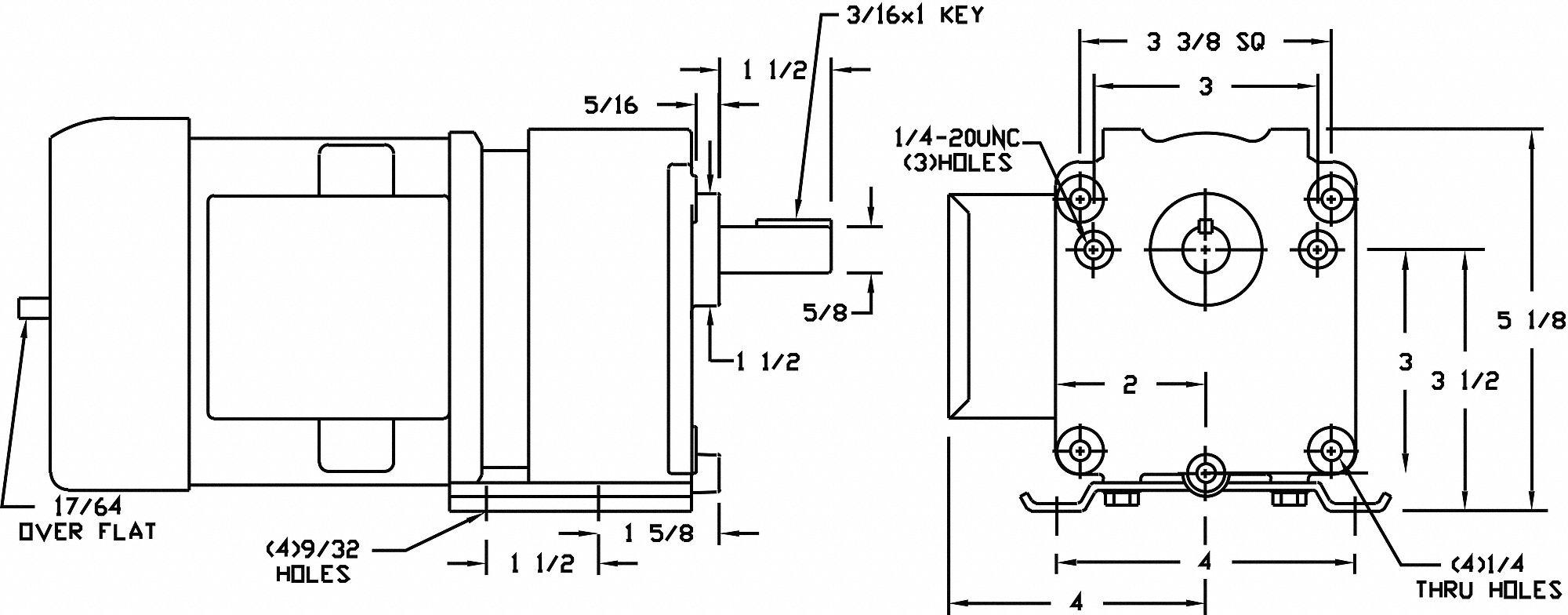 hight resolution of gearmotor ac 16rpm