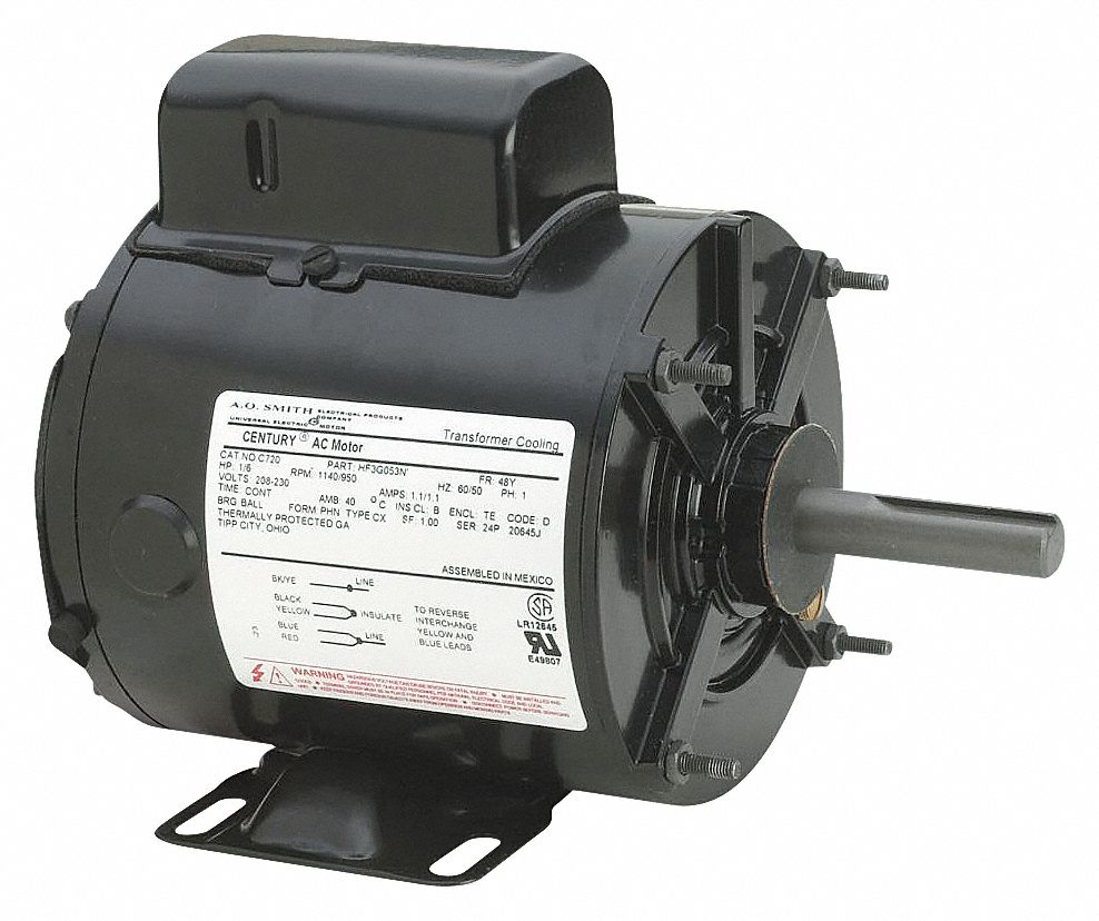 small resolution of fan motor 1 3 hp 1075 rpm 48y frame