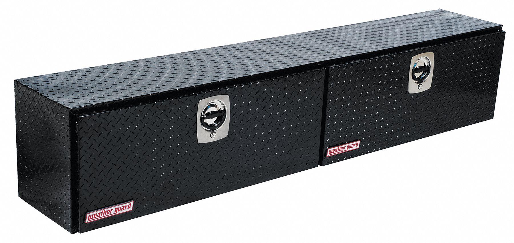 WEATHER GUARD Aluminum Topside Truck Box Black Double