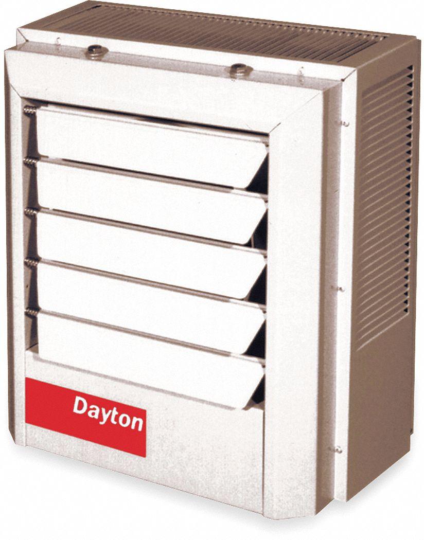 dayton electric unit heater vertical or horizontal 208vac 5 0 kw rh grainger com [ 1000 x 1000 Pixel ]