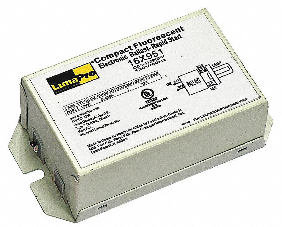 LUMAPRO Electronic CFL Ballast 13 Max Lamp Watts 120 V