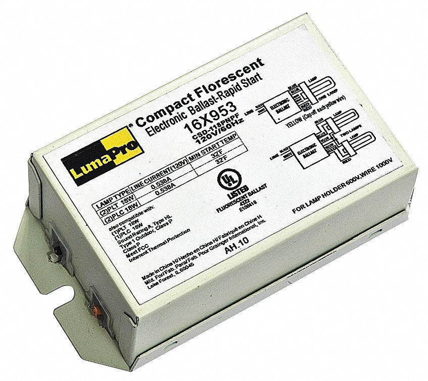 LUMAPRO Electronic CFL Ballast 18 Max Lamp Watts 120 V