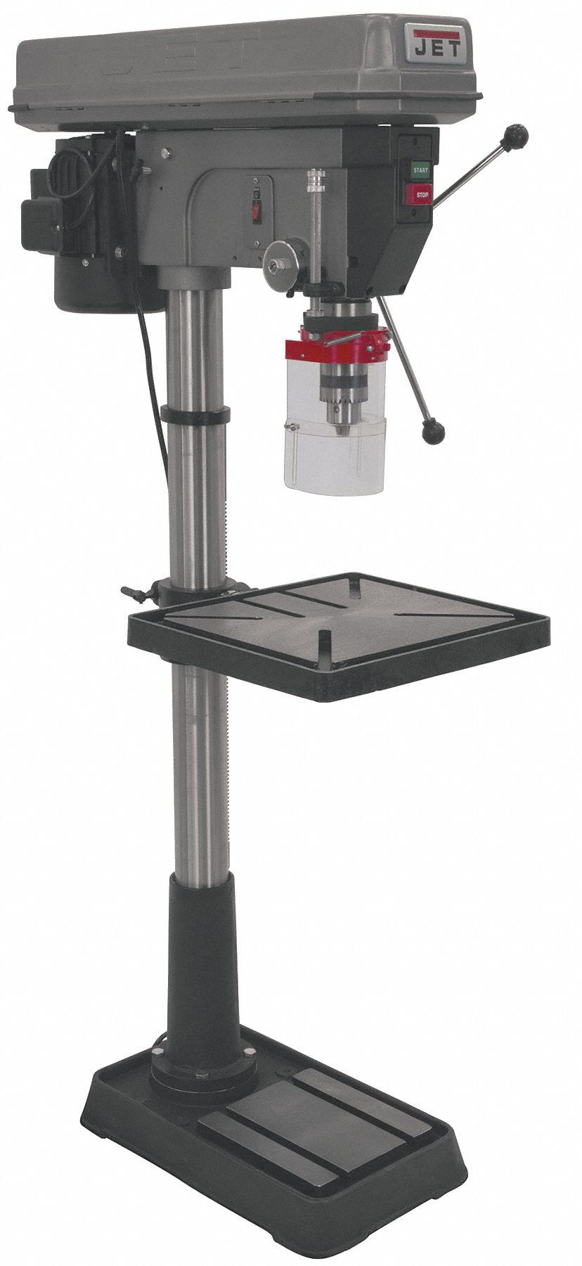 medium resolution of jet 1 1 2 motor hp floor drill press belt drive type 20 swing 115 230 voltage 18f196 354170 grainger