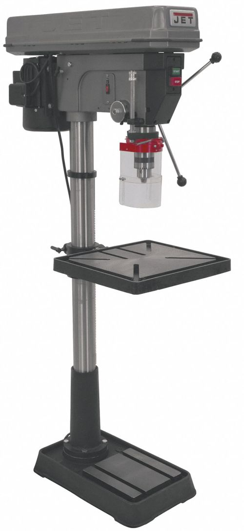 small resolution of jet 1 1 2 motor hp floor drill press belt drive type 20 swing 115 230 voltage 18f196 354170 grainger