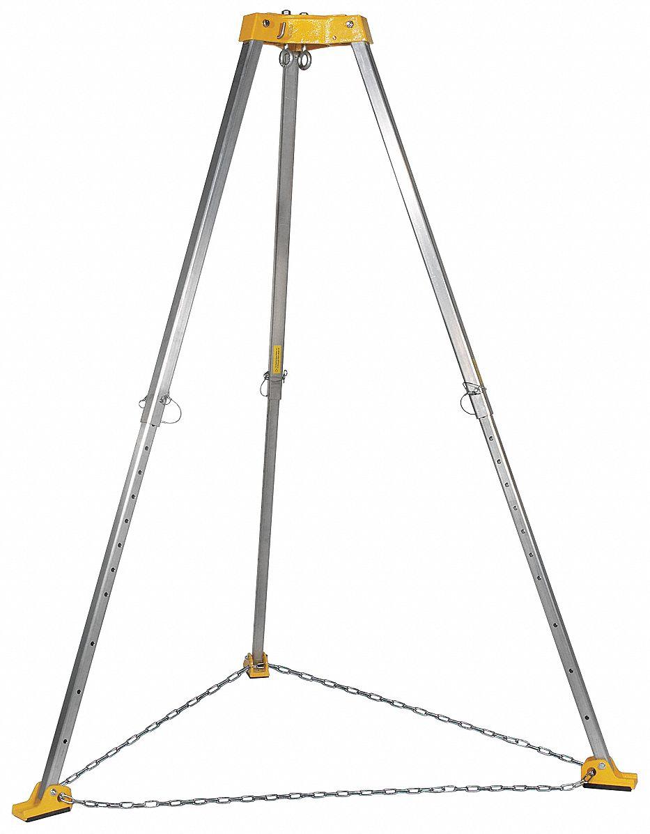 Gemtor Tripod (310 lb, Yellow). Model: TP-7 (Safety Fall