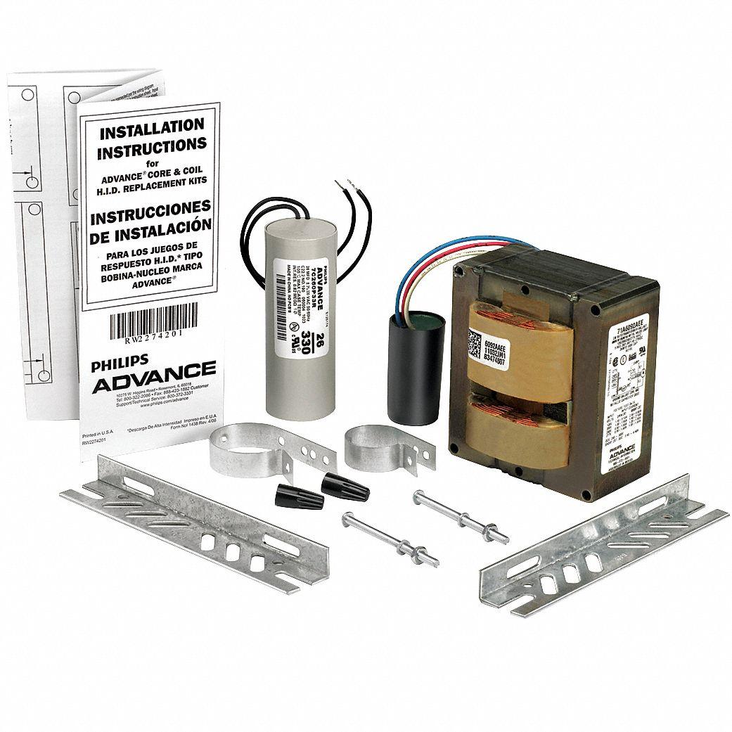 hight resolution of advance metal halide hid ballast kit 100 max lamp watts 120 208 240 277 v pulse ballast start type 3v555 71a5390 001d grainger