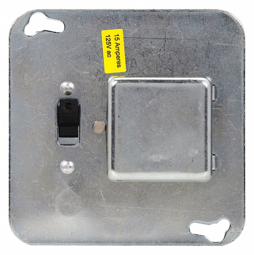medium resolution of eaton bussmann plug fuse box cover unit 4 square box type 15 amps ac 125vac voltage 1dl58 ssy grainger