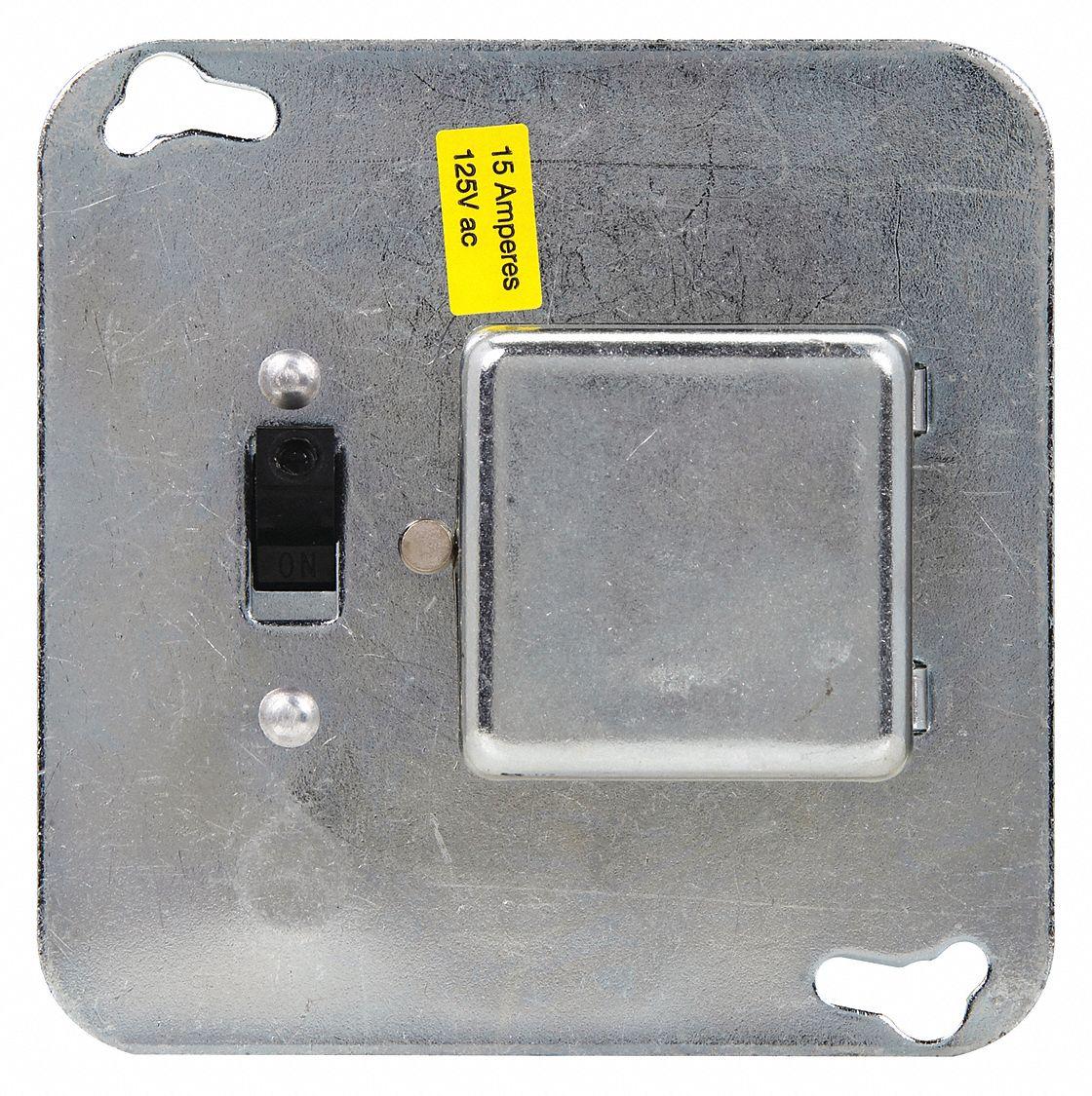 hight resolution of eaton bussmann plug fuse box cover unit 4 square box type 15 amps ac 125vac voltage 1dl58 ssy grainger