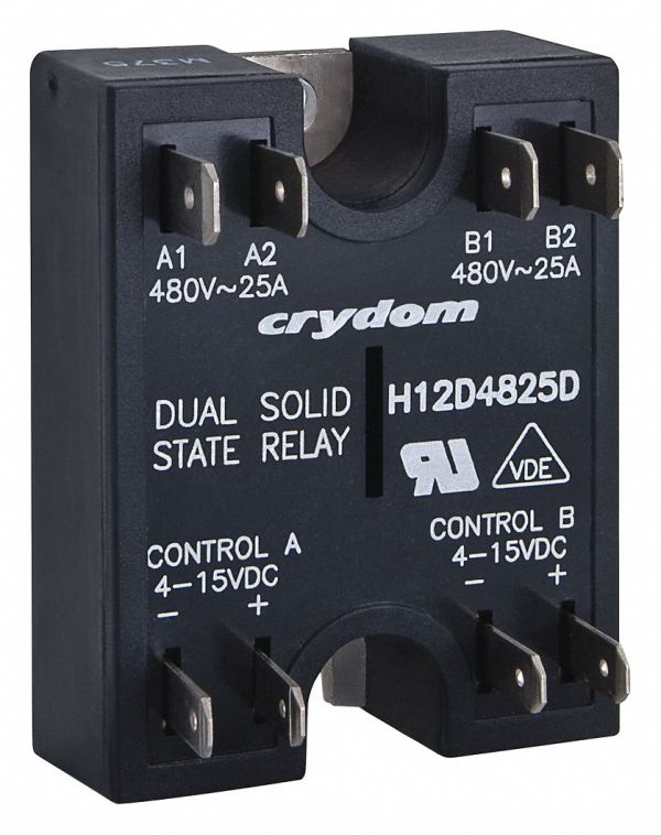 Crydom 2-pole Surface Mount Dual Solid State Relay; Max
