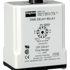 Dayton Timer Relay Wiring Diagram 2005 Dodge Ram Infinity 1egc5 Library Single Function Timing 120vac Dc 10a 240v 11 Pins