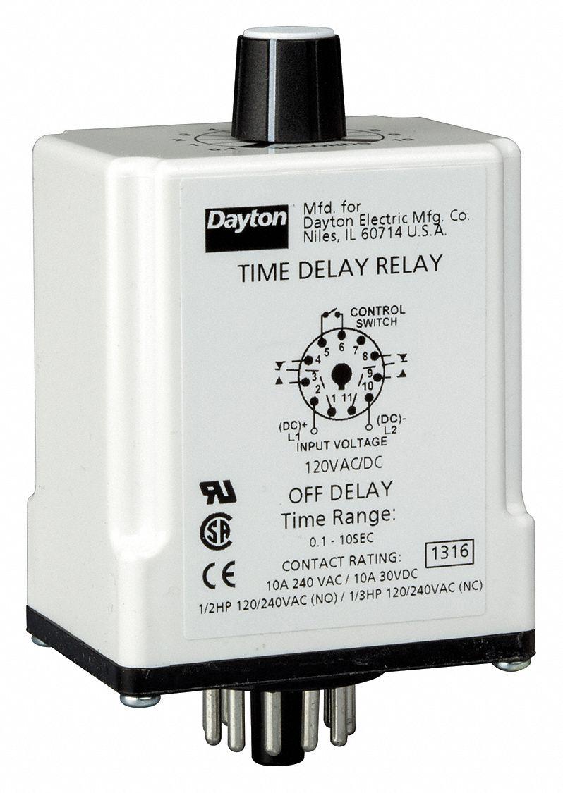 hight resolution of dayton single function timing relay 120vac dc 10a 240v 11 pins