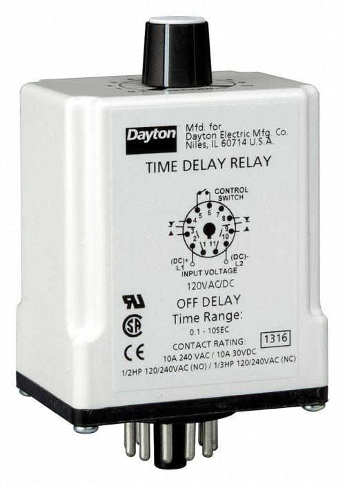 small resolution of dayton single function timing relay 120vac dc 10a 240v 11 pins
