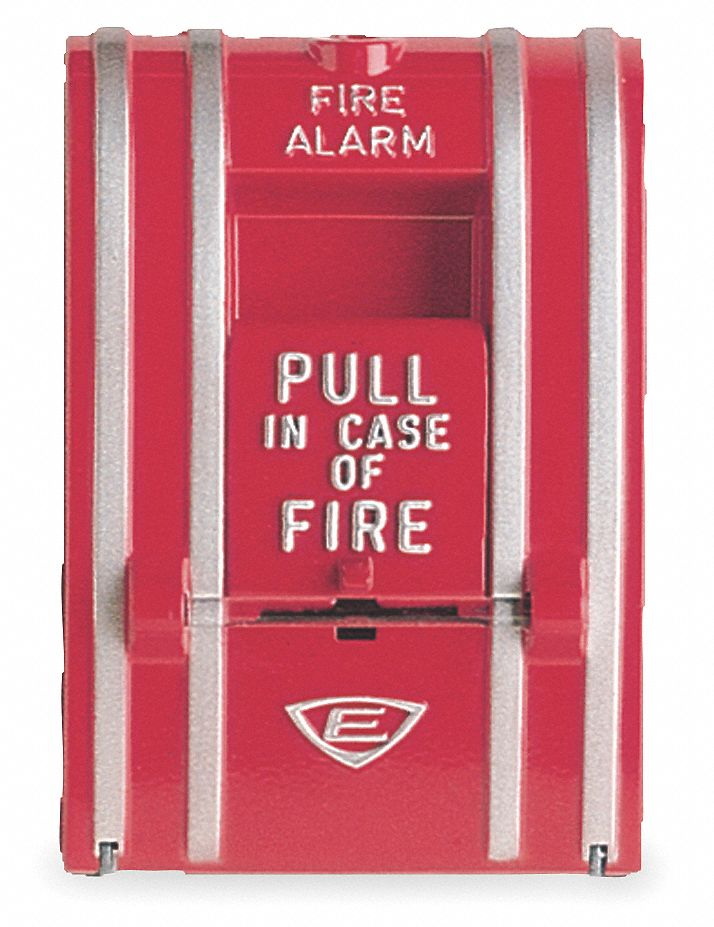 EDWARDS SIGNALING Fire Alarm Pull Station,Red,L 3 18 In
