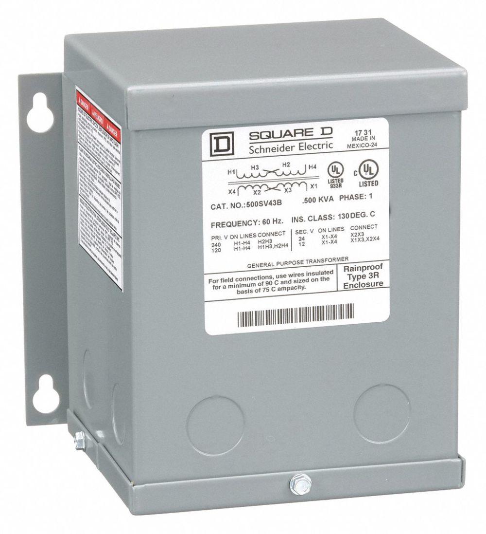 medium resolution of square d 500va buck boost transformer input voltage 120vac 240vac output voltage 12vac 24vac 1h275 500sv43b grainger